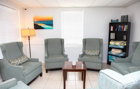 Meeting area at desert Rose Recovery Detox